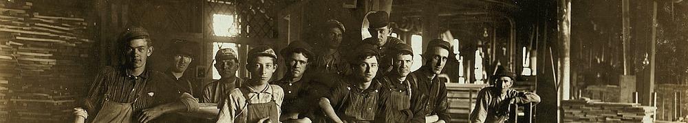 Historisches Foto mit Arbeitern