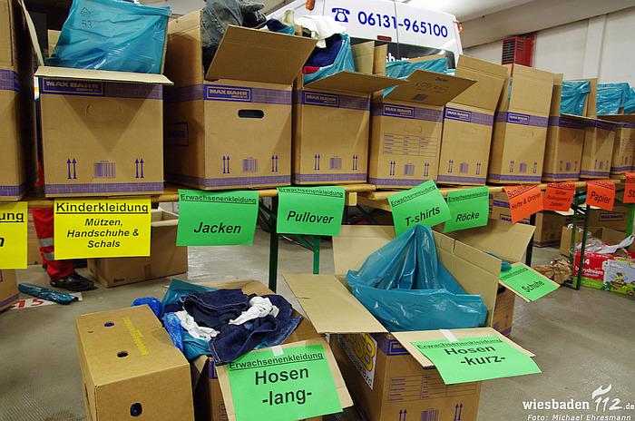 Sammlung Kleiderspenden für Flüchtlinge