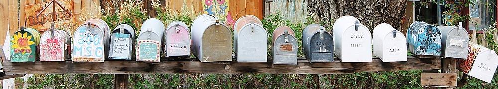 Amerikanische Briefkästen