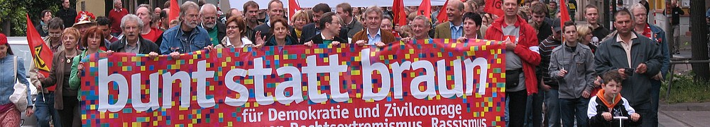 Demonstration Bunt statt Braun