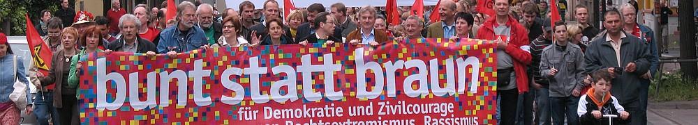 Demonstration Bunt statt Braun