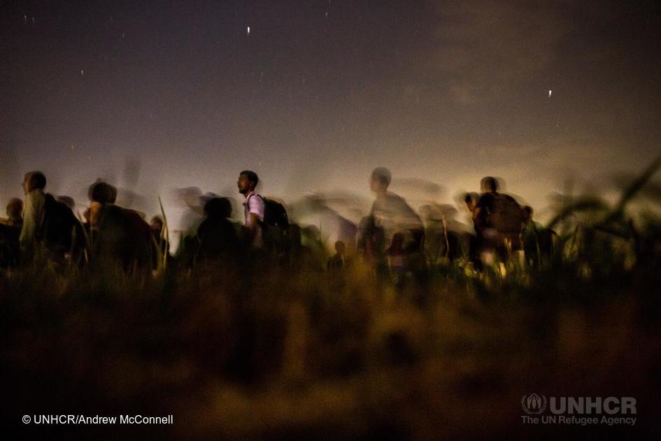 Syrische Flüchtlinge nähe Idomeni