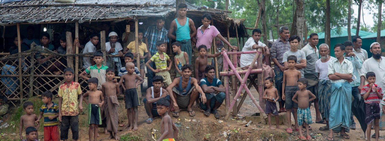 Rohingya in einem Flüchtlingscamp in Kutupalong Rohingya Refugee Camp in Cox's Bazar